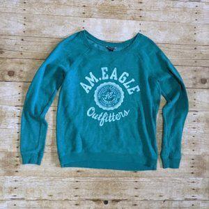 America Eagle Teal Crewneck Sweatshirt